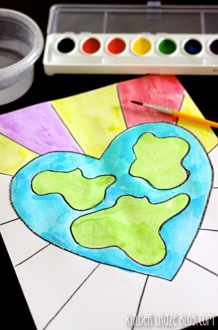 EASY step-by-step directions to make this Earth Day watercolor painting