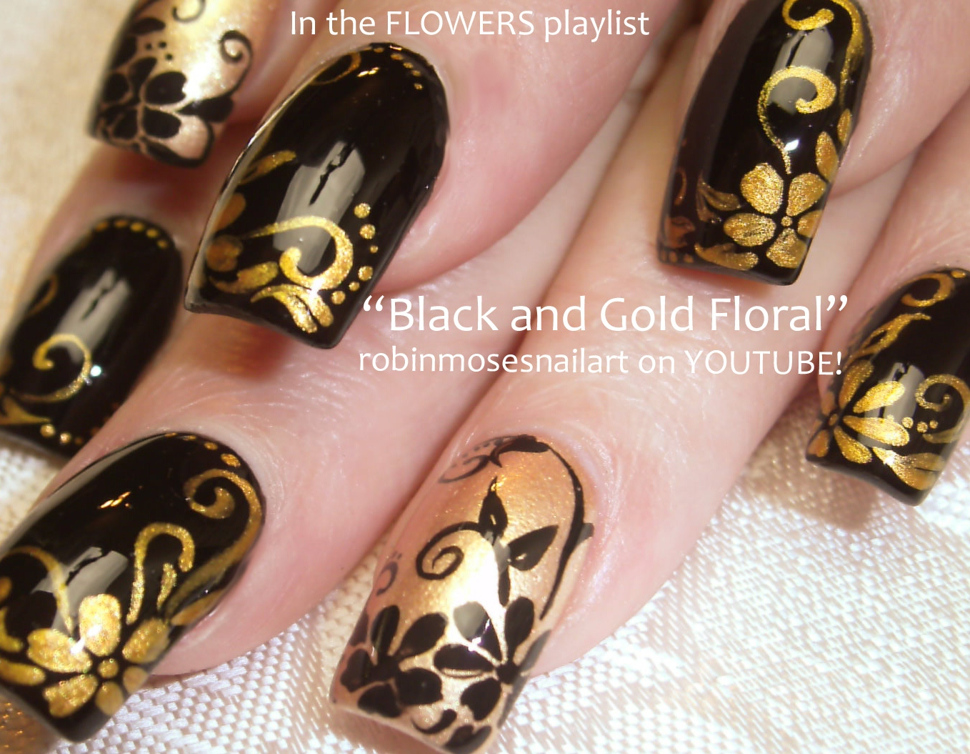 Nail Art Design: mardi gras nail art, black and gold nail art, how ...