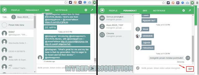 pushbullet dapat mengirim sms dan pesan