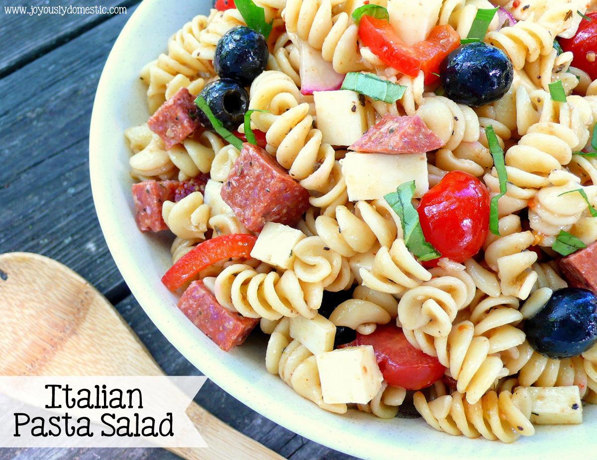 Joyously Domestic: Italian Pasta Salad