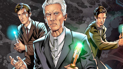 Doctor Who comics - Four Doctors! Three Companions!