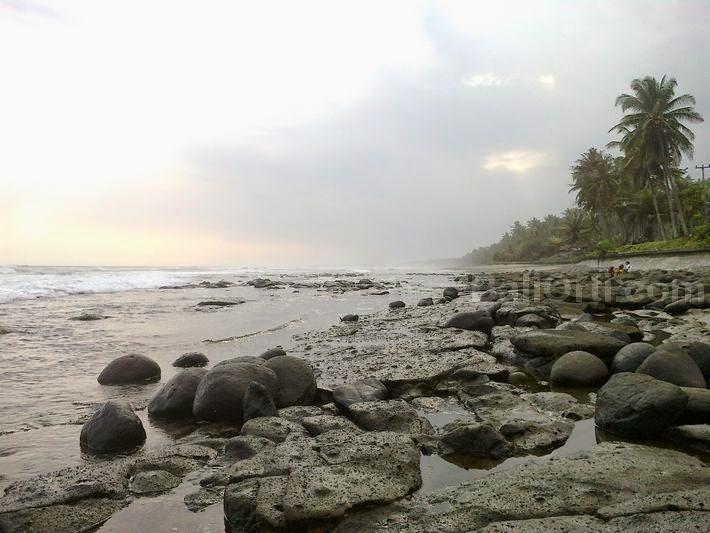 eh Leh beach on the west side.