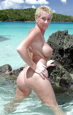 Beach milfs Mature