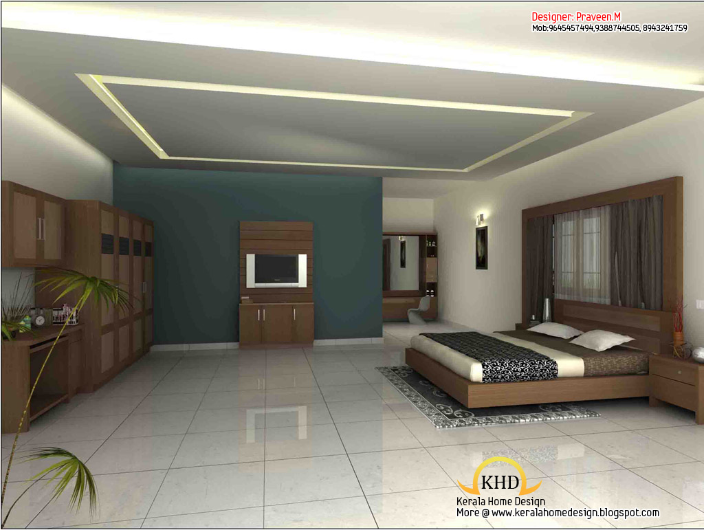 3d rendering concept of interior designs kerala home for New house interior design