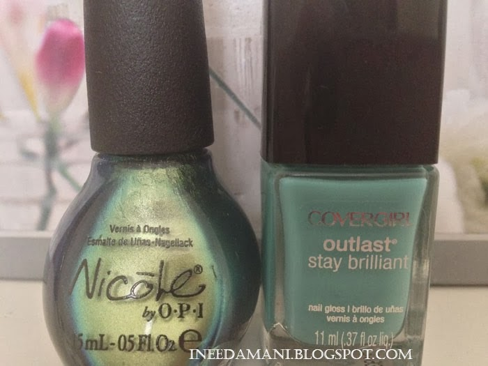 nicole opi mermaid for each other cover girl outlast mint mojito
