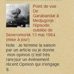 Point de vue : De Garabandal à Medjugorje : l'épisode oubliée de Severomorsk 13 mai 1984.