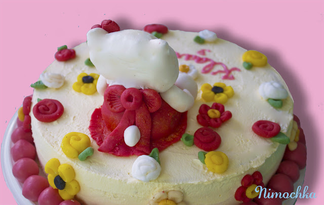 Hello Kitty, Cake, sugar paste, figurine,birthday