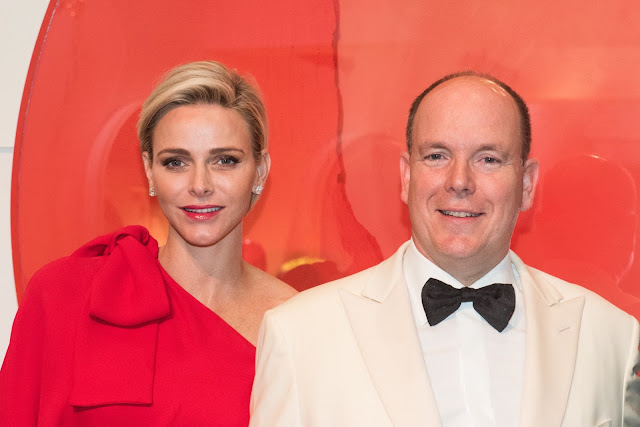 Princess Charlene and Prince Albert Red Cross Ball 2015