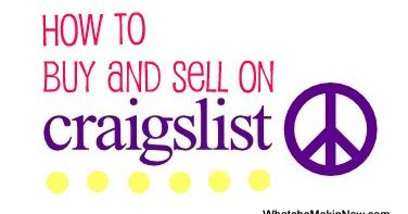 whatcha makin 39 now how to buy and sell on craigslist. Black Bedroom Furniture Sets. Home Design Ideas