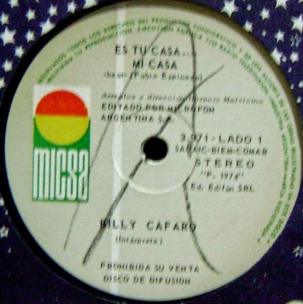 Discos De Argentina 1958 Billy Cafaro