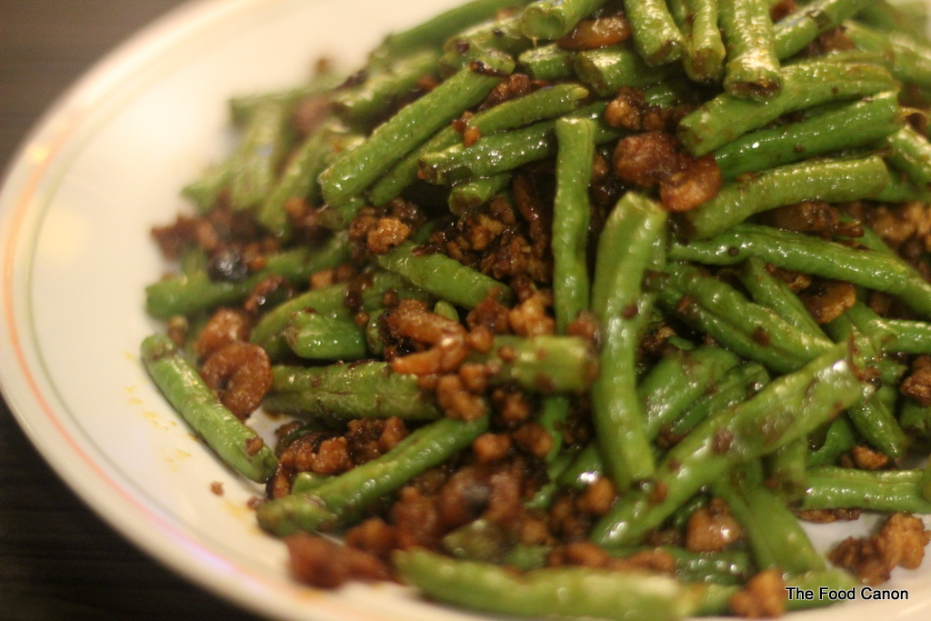dry fried green beans with minced pork