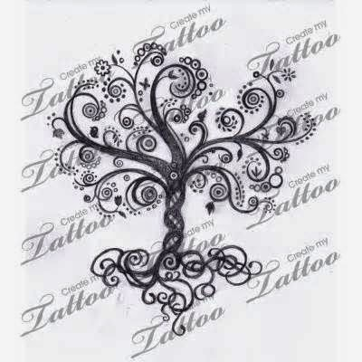 ♥ ♫ ♥ swirls tree tattoo - I don't think I will ever get a tattoo but if I did it would be a tree like this. It reminds me of family. ♥ ♫ ♥