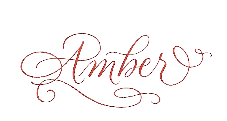 Amber events august 2011 My name in calligraphy