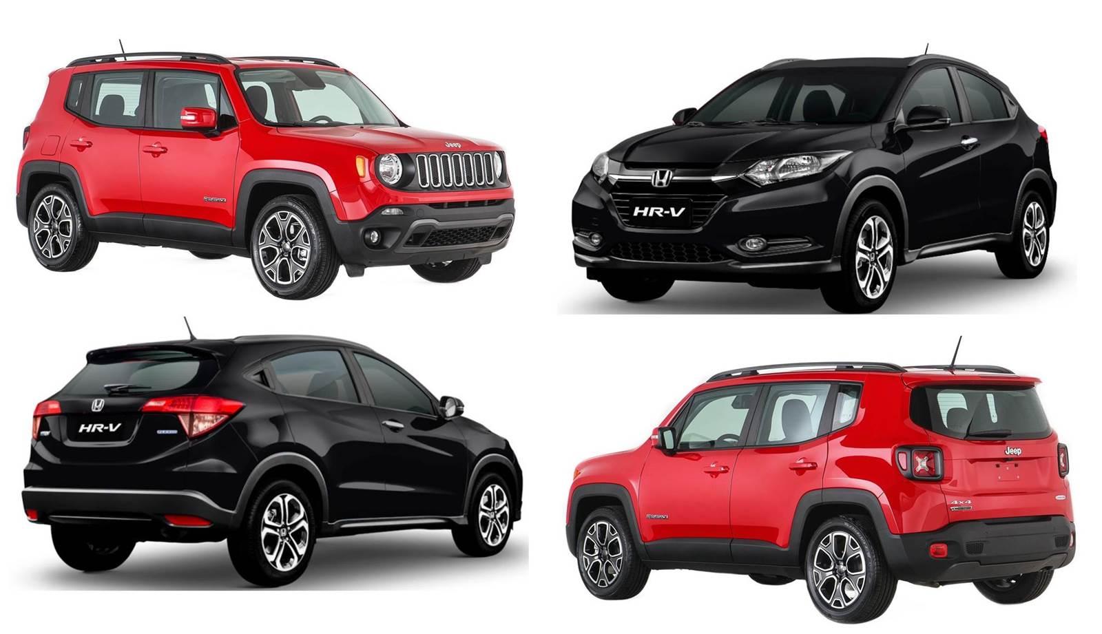 Honda Hr V X Jeep Renegade Especifica 231 245 Es E Comparativo