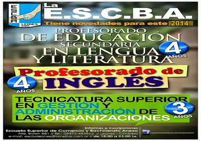 ESPACIO PUBLICITARIO: ESCBA LEONES