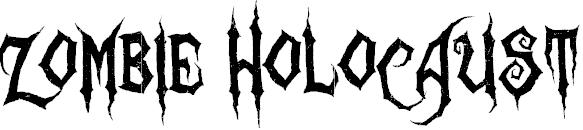 Zombie holocaust Free Halloween Font