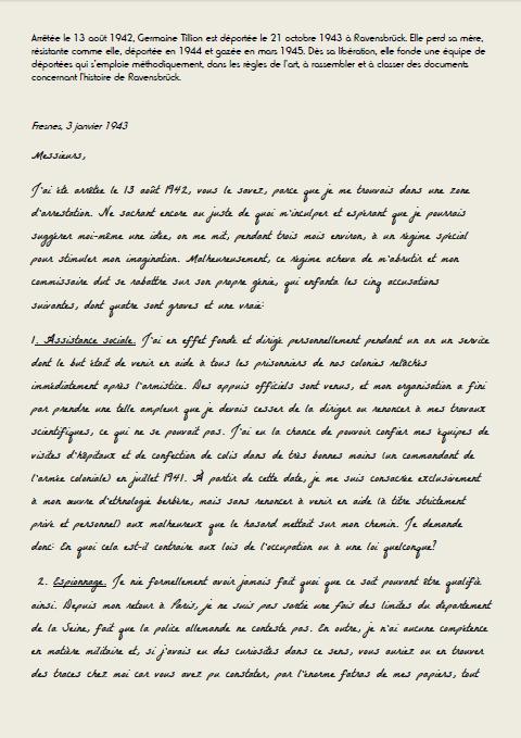 Lettre de Germaine