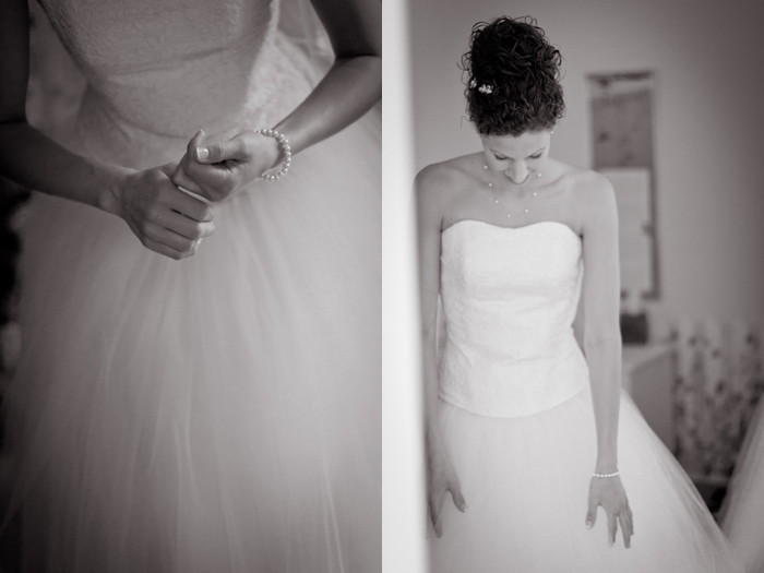Bride getting ready, corset wedding gown, tulle wedding skirt