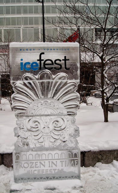 Bloor-Yorville IceFest 2015 and Sassafraz Ice Carving Competition in Toronto, lifestyle, ontario, canada, winter, frozen, time, the purple scarf, sculptures, cold