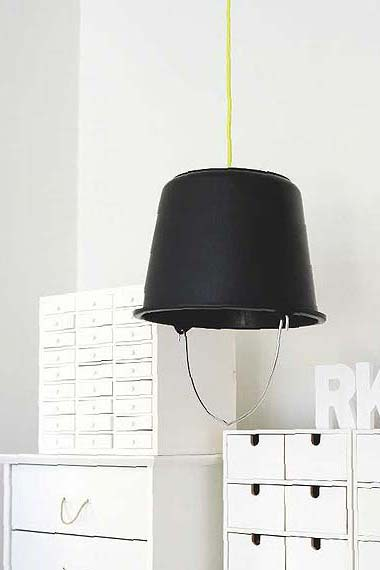 Scandinavian deko d i y quick projects cant find the right lamp shade how about a bucket aloadofball Image collections