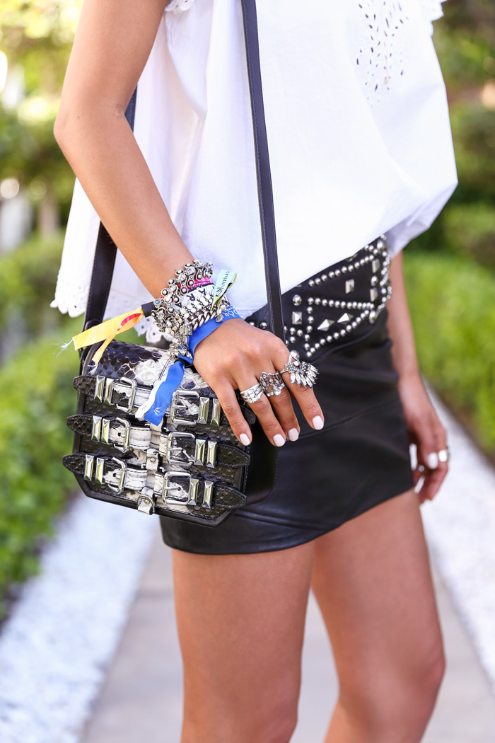 THE KOOPLES minibox bag in embossed python style leather, Coachella 2015 style