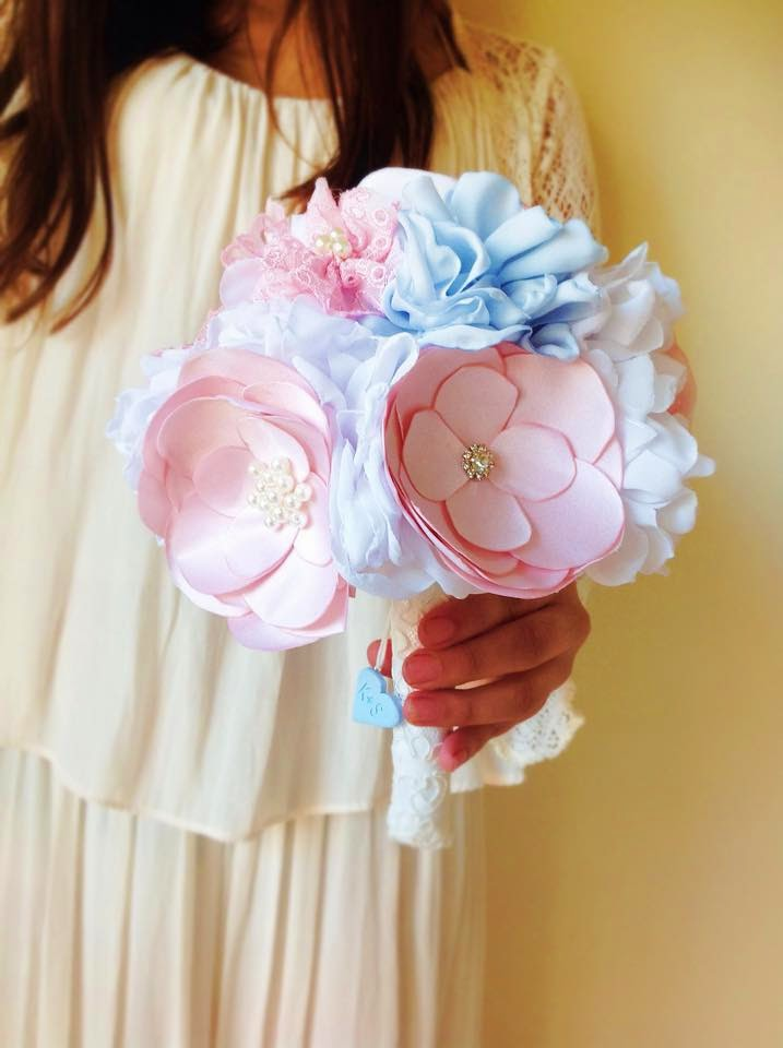 bouquet de noiva pastel