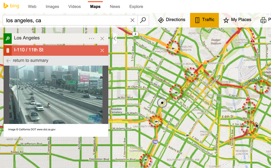 Traffic cameras in Bing Maps FIA – Map Directions Traffic