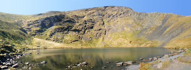 Looking over Scales Tarn towards Sharp Edge (right) on a walk to Blencathra