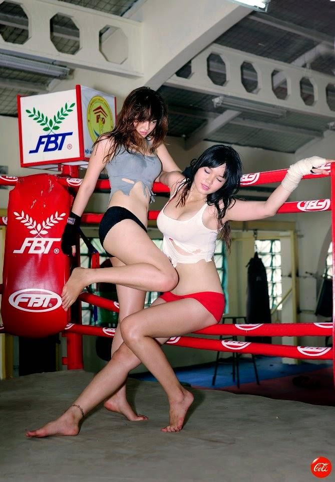 Khi phái đẹp đấu boxing 10
