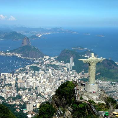 Vistas de Río de Janeiro desde el cielo