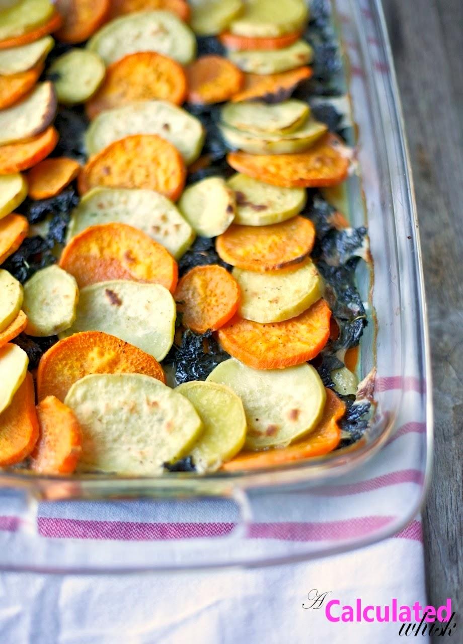 Sweet Potato Kale Gratin Whole30 Day 8