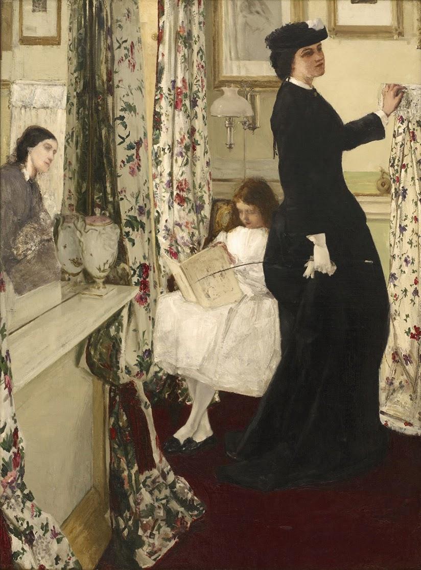 James McNeill Whistler, Armonía en verde y rosa. La sala de música