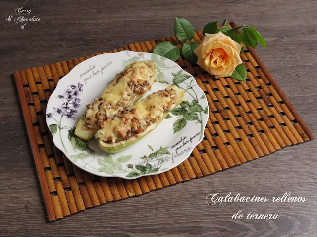 Calabacines rellenos de carne picada – Stuffed zucchini boats