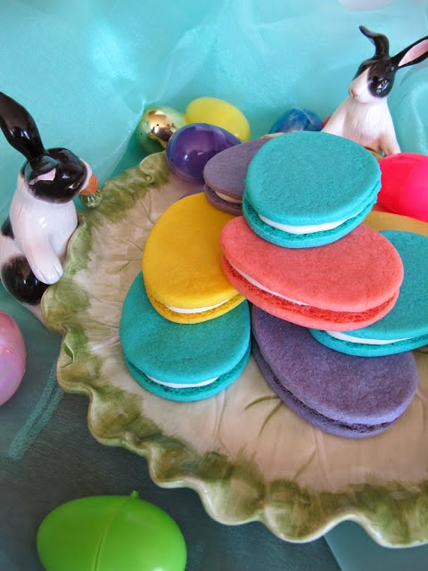 Vibrant Easter Egg Cookie Sandwiches