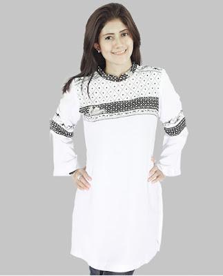 trend model baju remaja muslim warna putih terlaris
