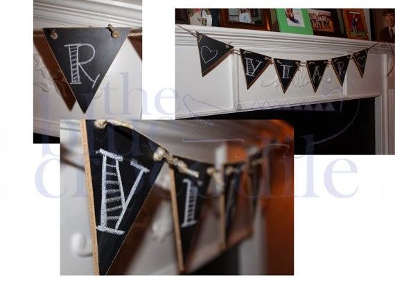 Chalkboard Banner, wedding/nursery/first birthday/decoration