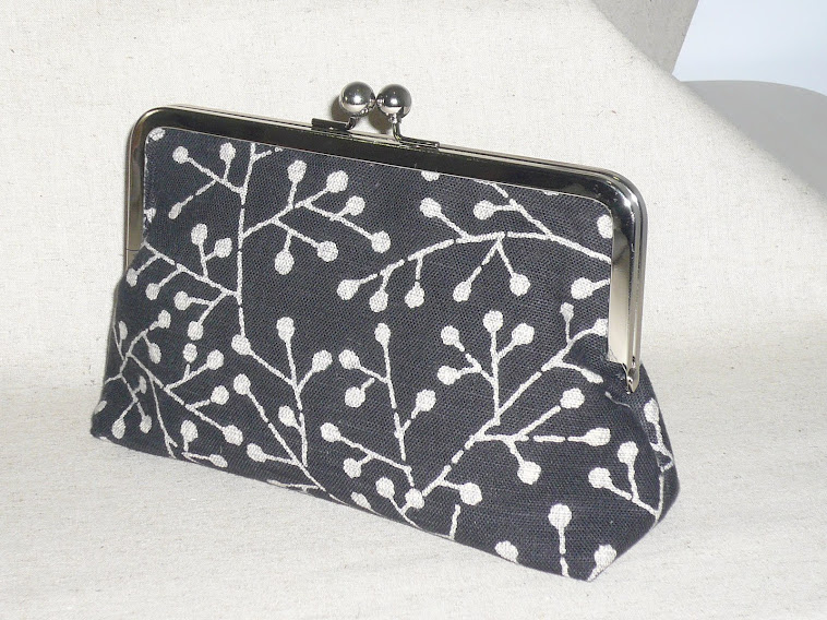 Japanese Hand Screen printed clutch
