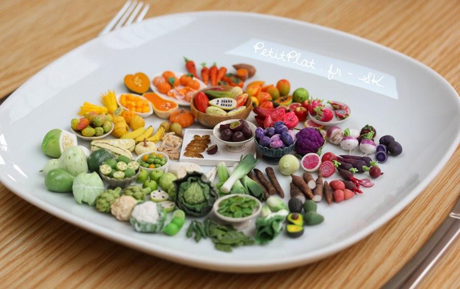 Week 10 of miniature fruit and veggies, Stephanie Kilgast, PetitPlat Miniatures