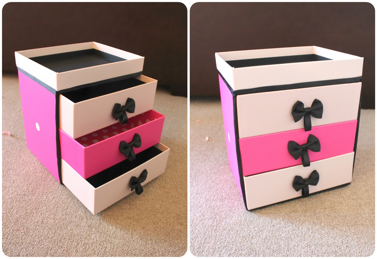peachfizzz diy make up storage. Black Bedroom Furniture Sets. Home Design Ideas
