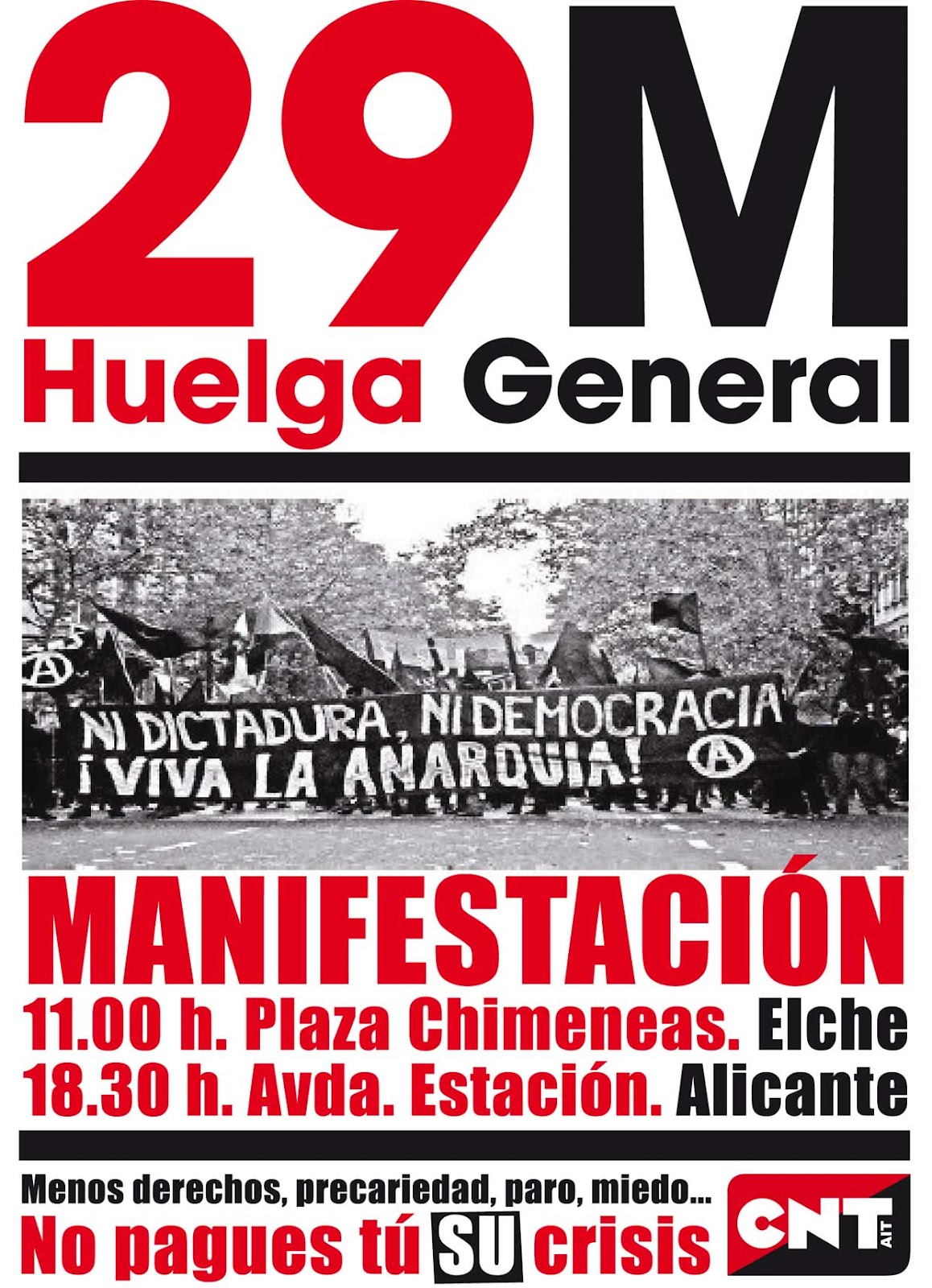 Cnt alacant huelga general 29 m unete al bloque anarquista - Chimeneas elche ...