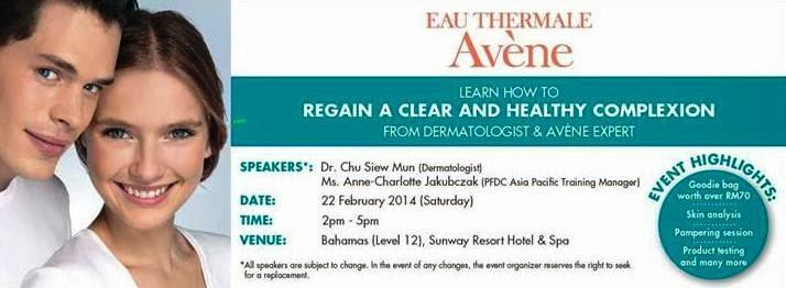Avene Skin Health Beauty Workshop, Avene, Skin Health, Beauty Workshop, eau thermale avene, acne skin treatment, pimples skin