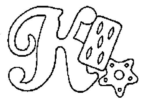 Desenhos Para Colori letras do alfabeto letra K desenhar