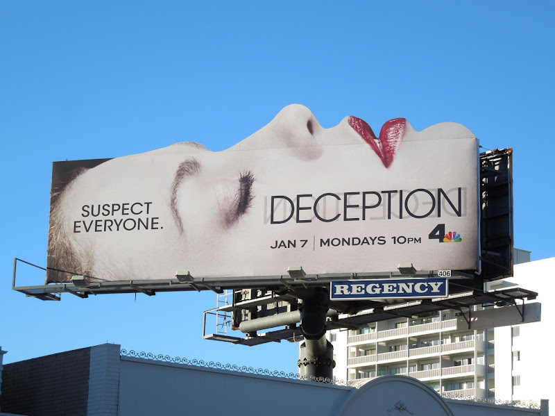 Deception Suspect Everyone face billboard