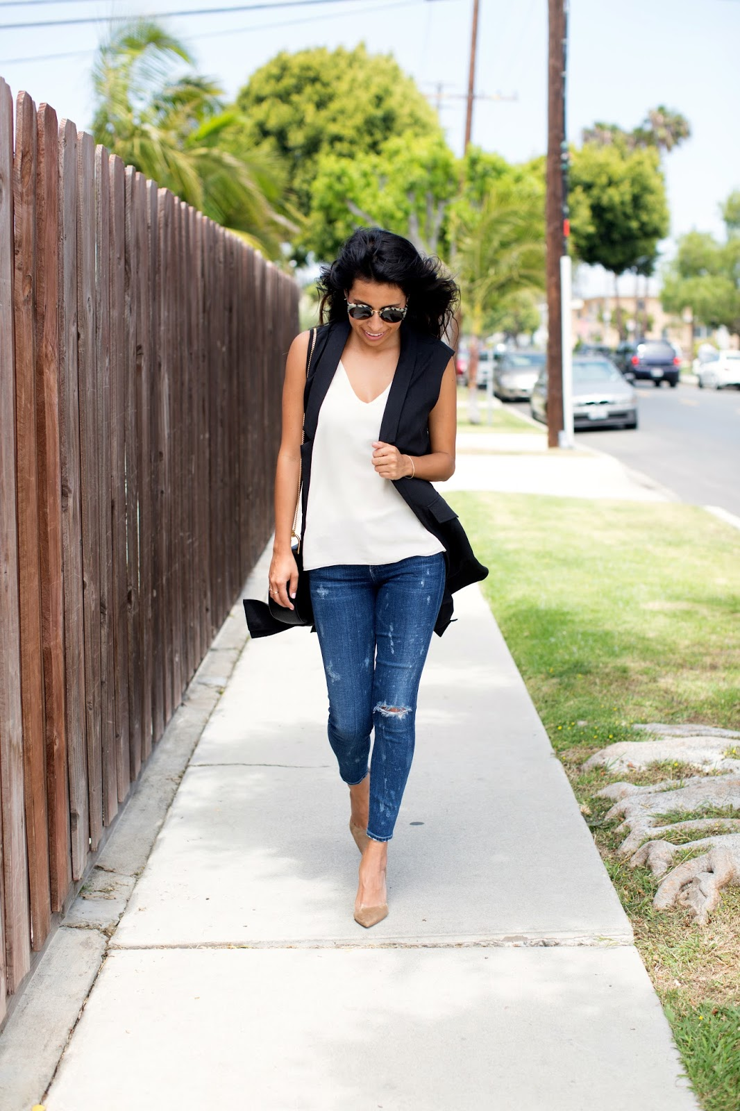 how to wear long vest, mgemi heels, mgemi shoe brand, summer work outfit