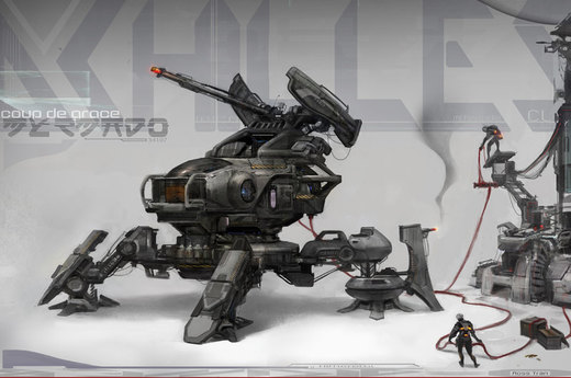 Achilles the Mech walker por Rossipoo
