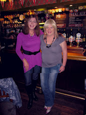Holly and myself propping up the bar of the Pickrel Inn Cambridge