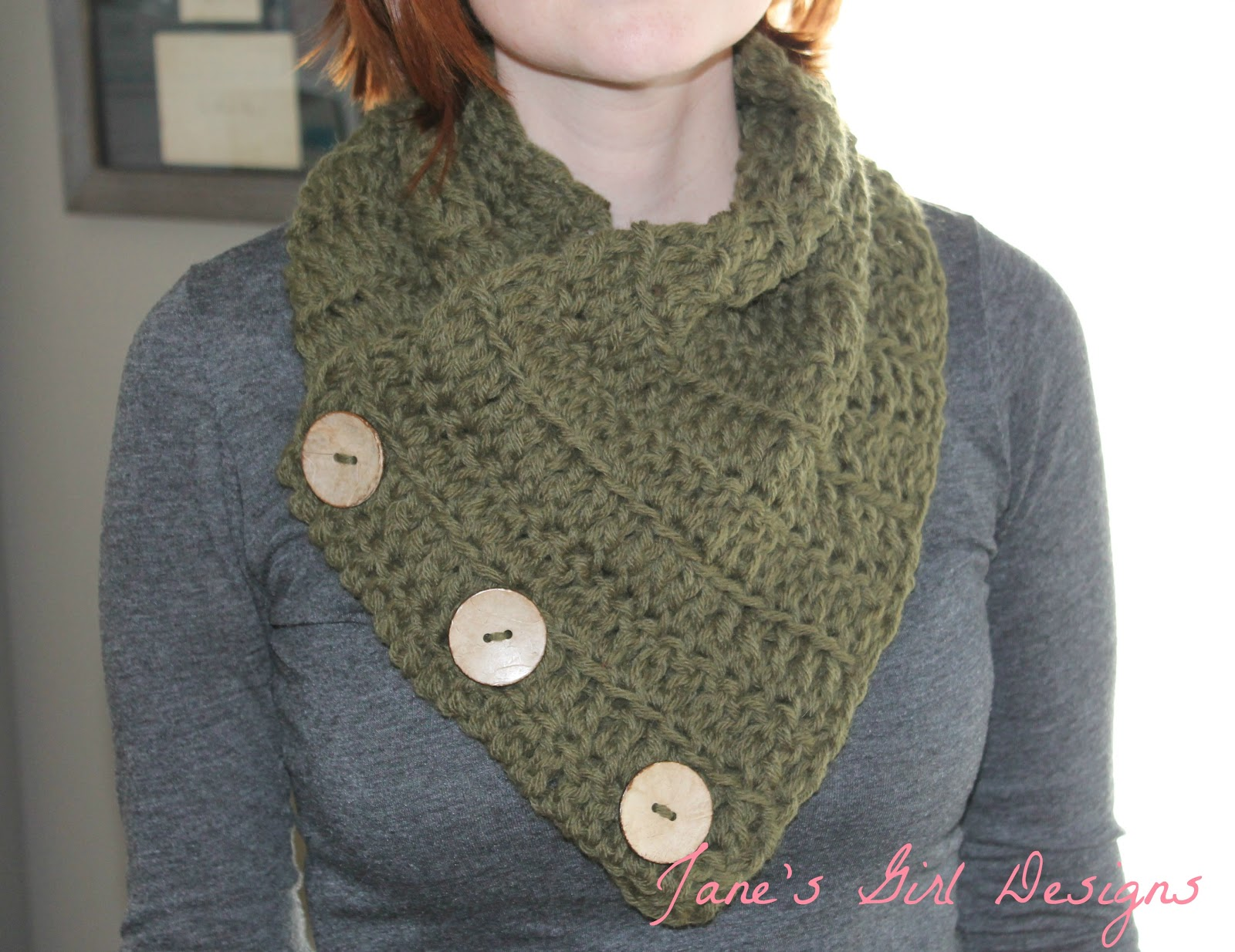 Jane\'s Girl Designs: Crocheted Cowl Tutorial
