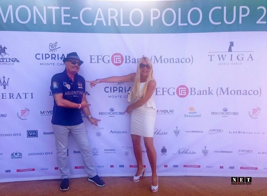 la giornalista e conduttrice Barbara Castellani a Montecarlo presso il Polo Club