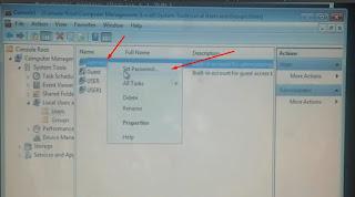 15. Selanjutnya klik kanan lagi Adminsitators lalu klik Set Password