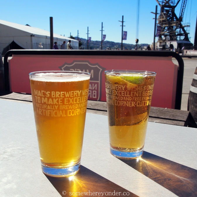 Mac's Brewery - my favourite place to relax in Wellington (on a good day), New Zealand